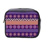 Colorful Winter Pattern Mini Toiletries Bag 2-Side