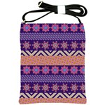 Colorful Winter Pattern Shoulder Sling Bags