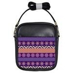 Colorful Winter Pattern Girls Sling Bags