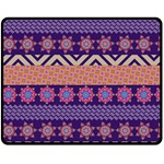 Colorful Winter Pattern Fleece Blanket (Medium)