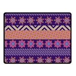 Colorful Winter Pattern Fleece Blanket (Small)