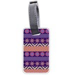 Colorful Winter Pattern Luggage Tags (One Side)