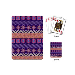 Colorful Winter Pattern Playing Cards (mini)  by DanaeStudio