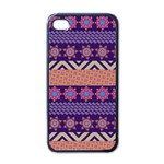 Colorful Winter Pattern Apple iPhone 4 Case (Black)