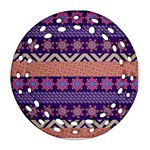 Colorful Winter Pattern Ornament (Round Filigree)