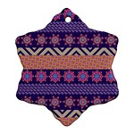 Colorful Winter Pattern Snowflake Ornament (2-Side)