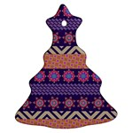 Colorful Winter Pattern Christmas Tree Ornament (2 Sides)