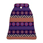 Colorful Winter Pattern Bell Ornament (2 Sides)