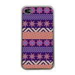 Colorful Winter Pattern Apple iPhone 4 Case (Clear)