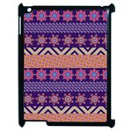 Colorful Winter Pattern Apple iPad 2 Case (Black)