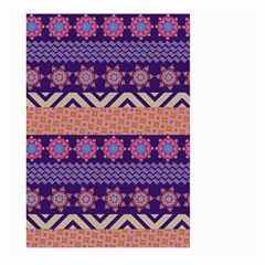 Colorful Winter Pattern Large Garden Flag (Two Sides) by DanaeStudio