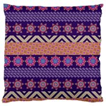 Colorful Winter Pattern Large Cushion Case (One Side)