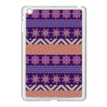 Colorful Winter Pattern Apple iPad Mini Case (White)