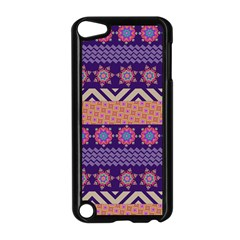 Colorful Winter Pattern Apple Ipod Touch 5 Case (black) by DanaeStudio