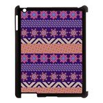 Colorful Winter Pattern Apple iPad 3/4 Case (Black)