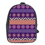Colorful Winter Pattern School Bags (XL)