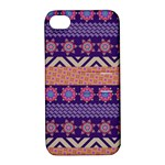 Colorful Winter Pattern Apple iPhone 4/4S Hardshell Case with Stand