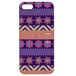 Colorful Winter Pattern Apple iPhone 5 Hardshell Case with Stand