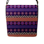 Colorful Winter Pattern Flap Messenger Bag (L)
