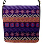 Colorful Winter Pattern Flap Messenger Bag (S)