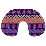 Colorful Winter Pattern Travel Neck Pillows