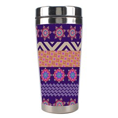 Colorful Winter Pattern Stainless Steel Travel Tumblers by DanaeStudio