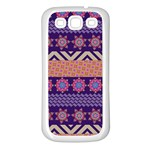 Colorful Winter Pattern Samsung Galaxy S3 Back Case (White)