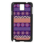 Colorful Winter Pattern Samsung Galaxy Note 3 N9005 Case (Black)