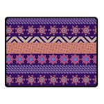 Colorful Winter Pattern Double Sided Fleece Blanket (Small)