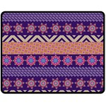 Colorful Winter Pattern Double Sided Fleece Blanket (Medium)