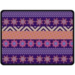 Colorful Winter Pattern Double Sided Fleece Blanket (Large)