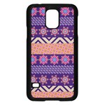 Colorful Winter Pattern Samsung Galaxy S5 Case (Black)