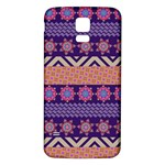 Colorful Winter Pattern Samsung Galaxy S5 Back Case (White)