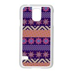 Colorful Winter Pattern Samsung Galaxy S5 Case (White)