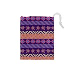 Colorful Winter Pattern Drawstring Pouches (Small)