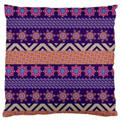 Colorful Winter Pattern Large Flano Cushion Case (two Sides) by DanaeStudio