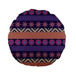 Colorful Winter Pattern Standard 15  Premium Flano Round Cushions