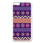 Colorful Winter Pattern Apple iPhone 6 Plus/6S Plus Enamel White Case