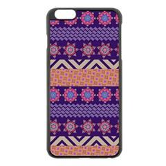 Colorful Winter Pattern Apple Iphone 6 Plus/6s Plus Black Enamel Case by DanaeStudio