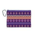 Colorful Winter Pattern Canvas Cosmetic Bag (M)