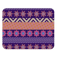 Colorful Winter Pattern Double Sided Flano Blanket (large)  by DanaeStudio