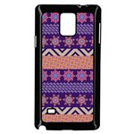 Colorful Winter Pattern Samsung Galaxy Note 4 Case (Black)