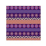 Colorful Winter Pattern Small Satin Scarf (Square)