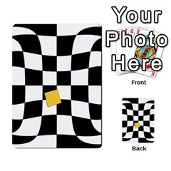 Dropout Yellow Black And White Distorted Check Multi Purpose Cards (rectangle)  by designworld65
