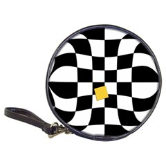 Dropout Yellow Black And White Distorted Check Classic 20 Cd Wallets by designworld65