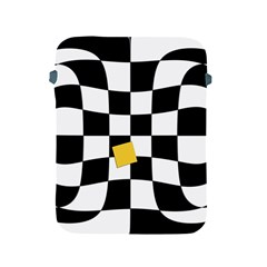 Dropout Yellow Black And White Distorted Check Apple Ipad 2/3/4 Protective Soft Cases by designworld65