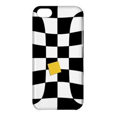 Dropout Yellow Black And White Distorted Check Apple Iphone 5c Hardshell Case by designworld65