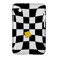 Dropout Yellow Black And White Distorted Check Samsung Galaxy Tab 2 (7 ) P3100 Hardshell Case  by designworld65
