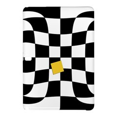Dropout Yellow Black And White Distorted Check Samsung Galaxy Tab Pro 10 1 Hardshell Case by designworld65
