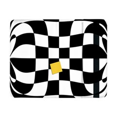 Dropout Yellow Black And White Distorted Check Samsung Galaxy Tab Pro 8 4  Flip Case by designworld65